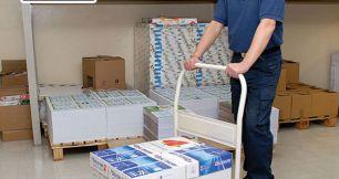 Bộ sưu tập xe đẩy hàng hóa 4 bánh dùng trong xưởng sản xuất